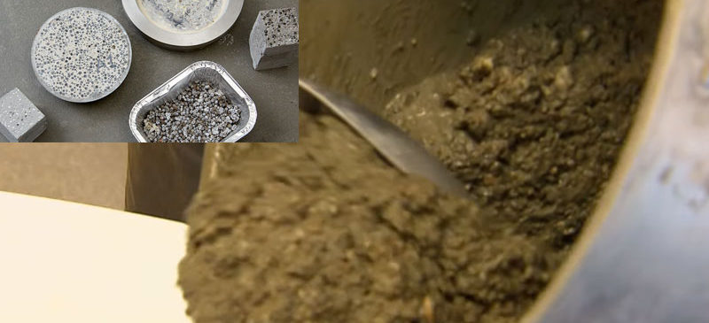 Self-healing Concrete Containing Bacteria